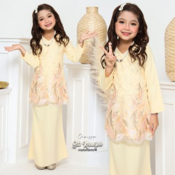 Siti Khadijah Kids 6/8/10 - Pastel Yellow