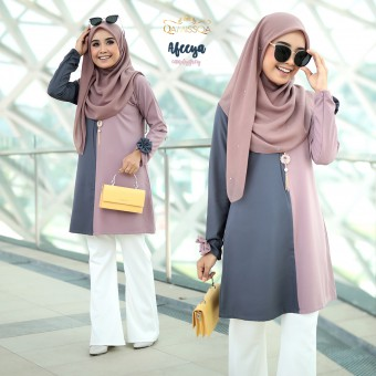 Afeeya Blouse - Candy Grey