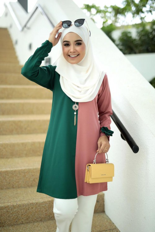 Afeeya Blouse - Candy Peach