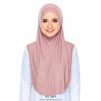 Selma Instant Tudong - Dusty Pink