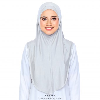 Selma Instant Tudong - Pewter Grey