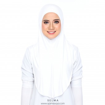 Selma Instant Tudong - Pure White
