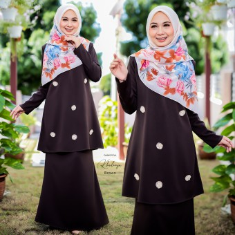 Khadeeja Kurung - Darkbrown