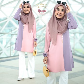 Afeeya Blouse - Pastel Purple