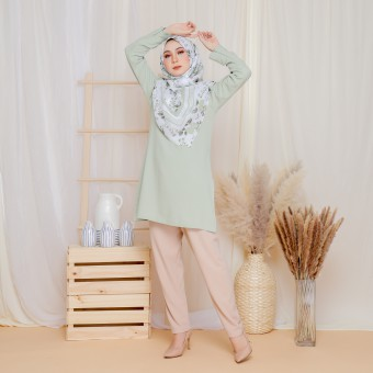 Cinta Blouse - Nude Green