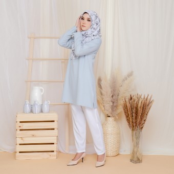 Cinta Blouse - Nude Blue