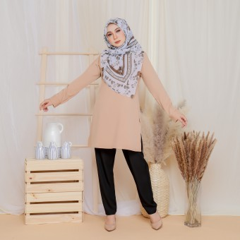 Cinta Blouse - Pastel Brown