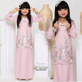 Siti Khadijah Kids 6/8/10 - Light Pink Purple