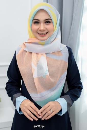 Bawal Geomatrik - Yellow Peach