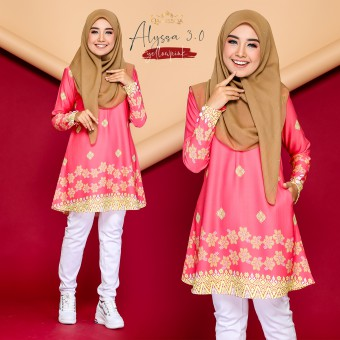 Alyssa Blouse - Yellow Pink