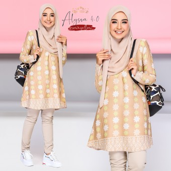Alyssa Blouse - Brown Yellow