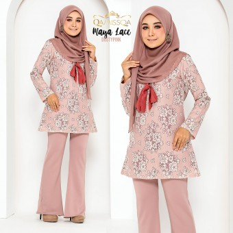 Maya Lace Blouse - Dusty Pink
