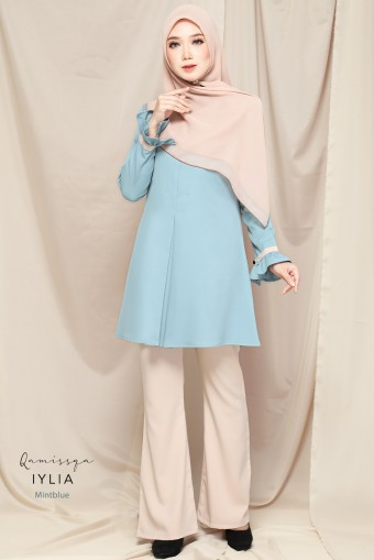 Iylia Blouse Raya - Mint Blue