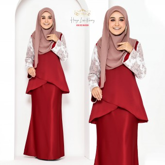 Hasya Lace Kurong - King Red Maroon