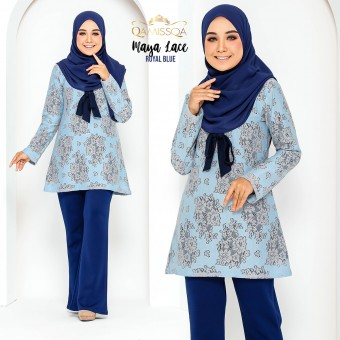 Maya Lace Blouse - Darkblue