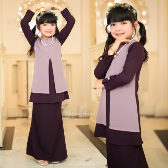 Kids 2/4 Nazam Lebaran - Purple