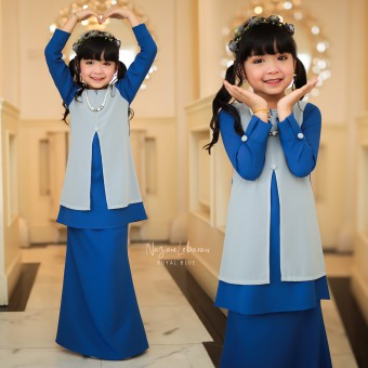 Kids 2/4 Nazam Lebaran - Royal Blue