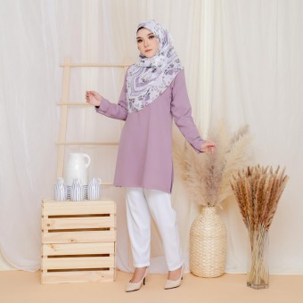 Cinta Blouse - Pastel Purple
