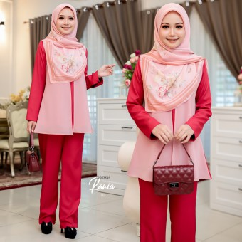 Rania Suit - Red Maroon