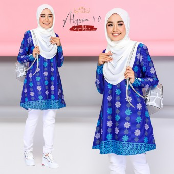 Alyssa Blouse - Royal Blue