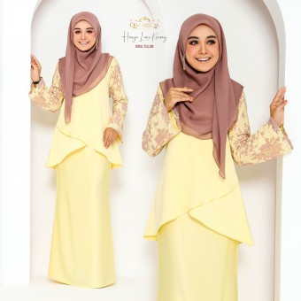 Hasya Lace Kurong - Royal Yellow